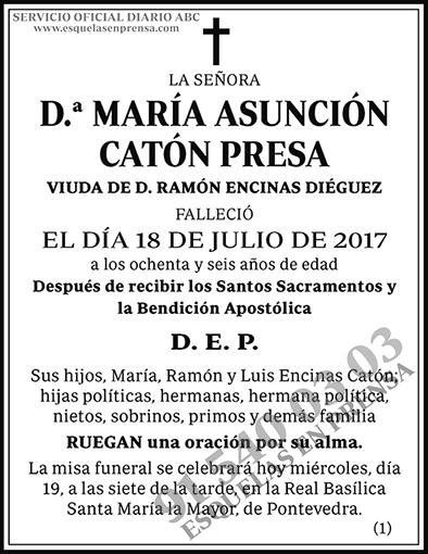María Asunción Catón Presa
